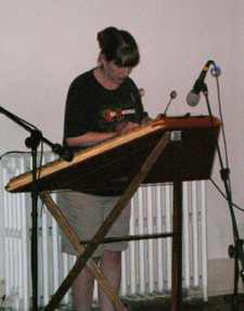 Photo: Playing in the open mic.